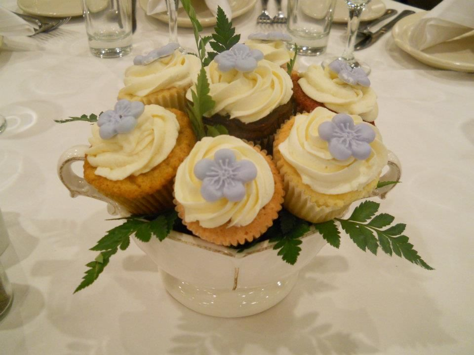 cupcakes in bloom bridal shower centerpieces dessert all in one