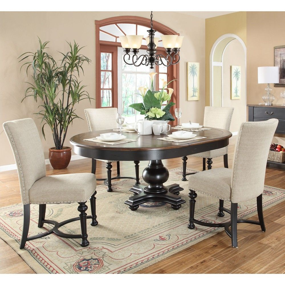 Williamsport Wood Round Dining Table & Matching Dining