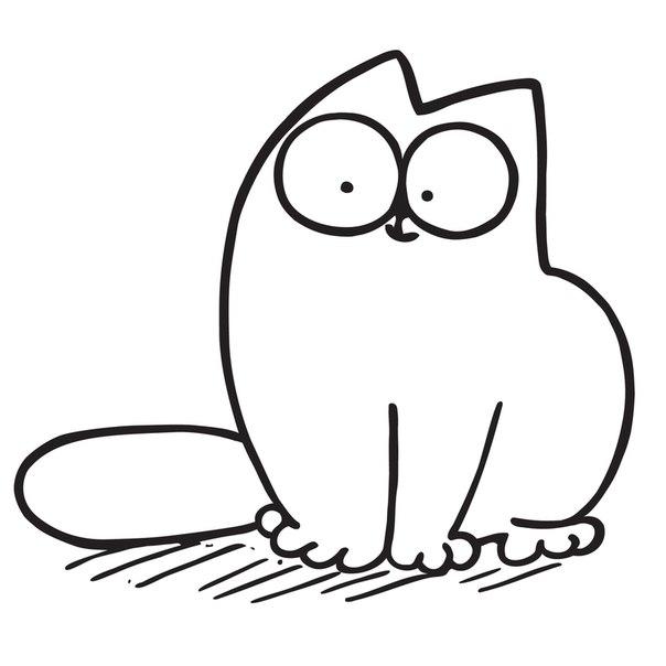Krasivye Kartinki Kotov Dlya Srisovki Legkie Prostye Prikolnye Simons Cat Cat Drawing Cat Character