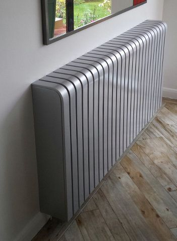 Silver Radiator Cover Ral9006 In Gloss Best Radiators Radiators Modern Modern Radiator Cover