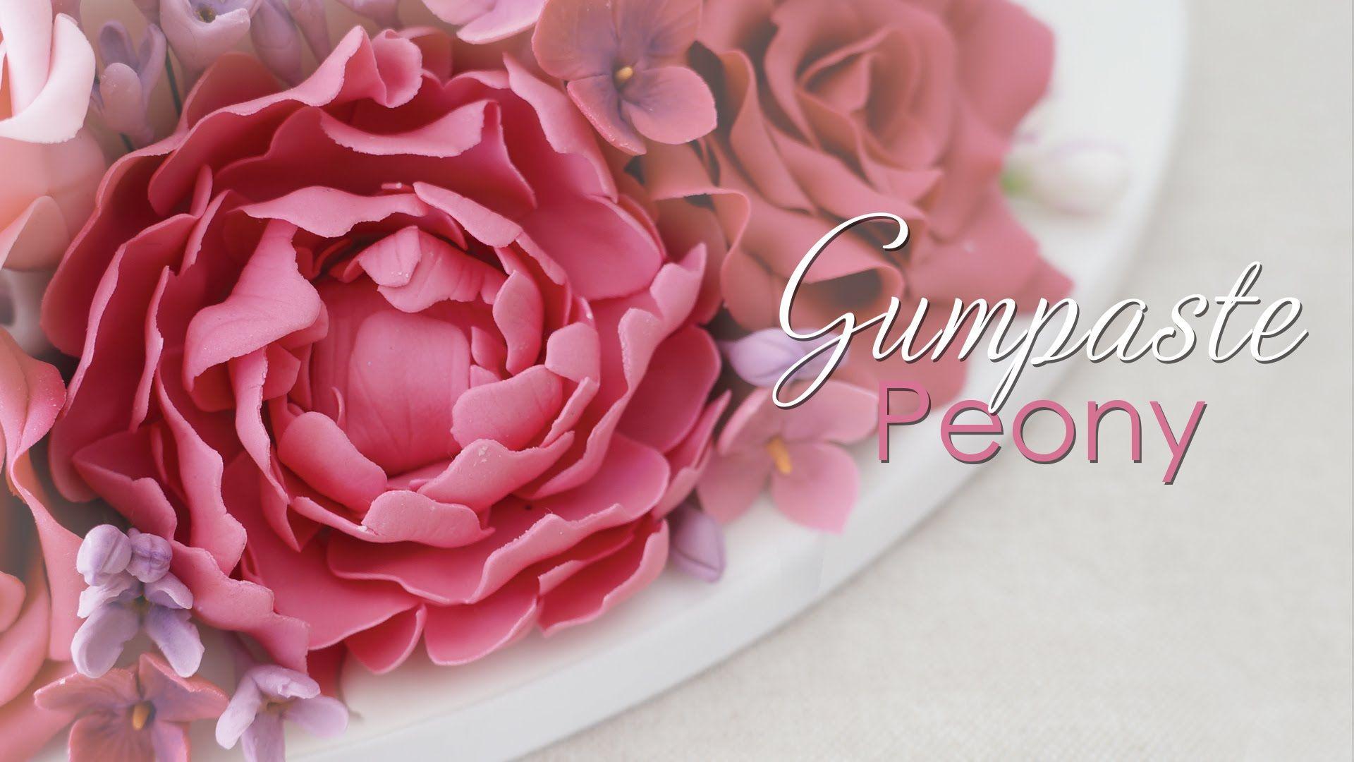 Gumpaste Peony Cake Decorating Tutorial Gum Paste Cake Flowers Tutorial Cake Decorating Tutorials