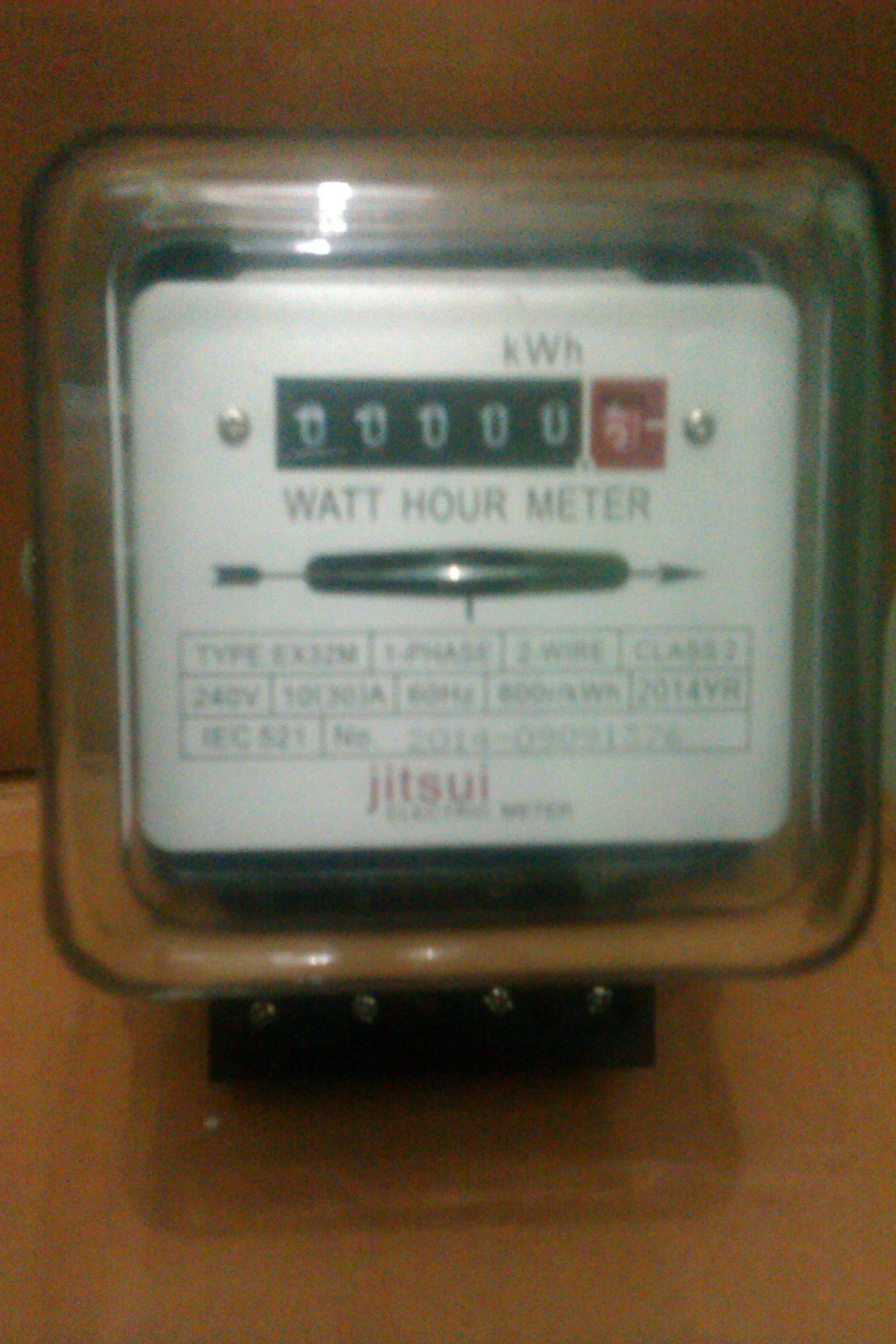 Electric Meter, Mechanical, 10/30 Ampere, 1 phase, 2 wire, 240 Volts ...
