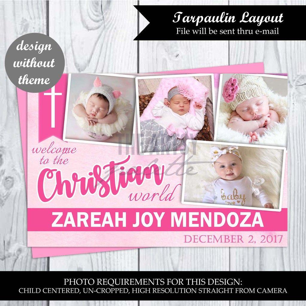 Tarpaulin Layout Only Christening Birthday Wedding