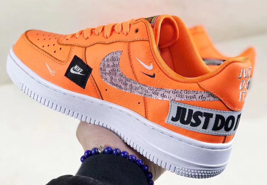 Nike Air Force 1 Low Just Do It Ar7719 800 Orange Sneaker Bar Detroit Nike Shoes Air Force Sneakers Nike Sneakers