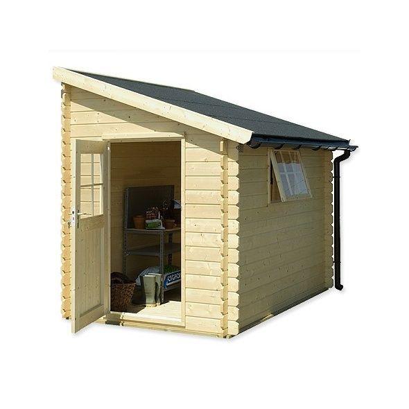 Abri de jardin adossable bois 5 m² Ep28 mm - abris de jardin adossable