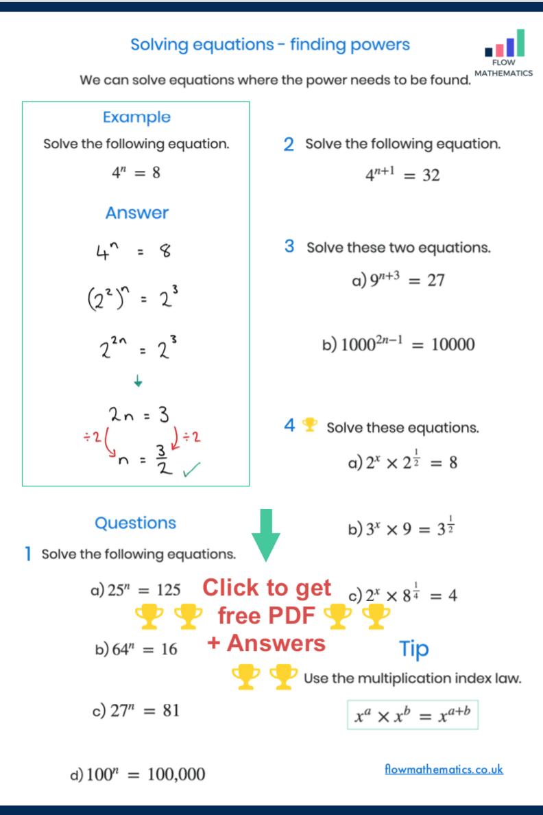 Solving Equations Finding Powers Solving Equations Basic Math Skills Math Methods [ 1188 x 792 Pixel ]