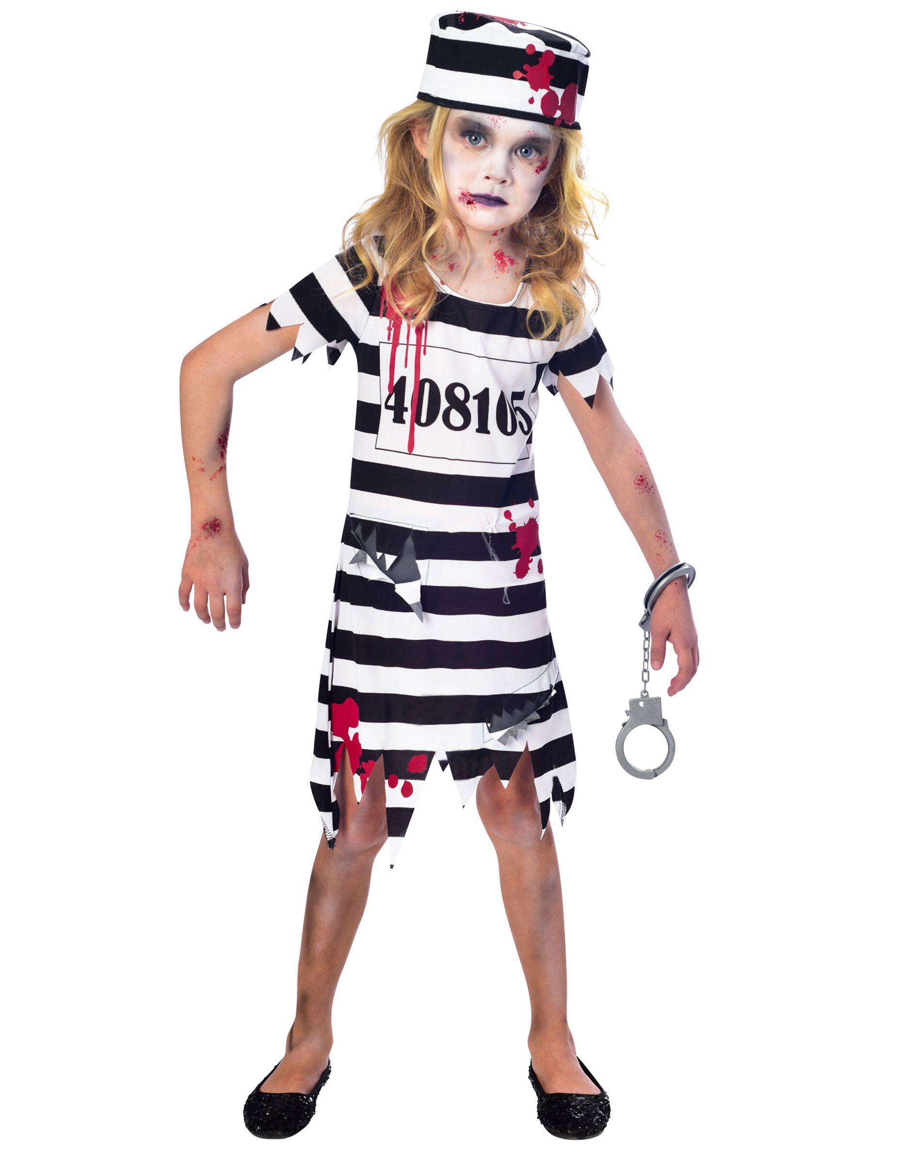 fa7b0e95a8f9 ... molto altro su Halloween di Cristina. Costume da prigioniera zombie per  bambina: Questo travestimento da carcerata zombie comprende un vestitino e