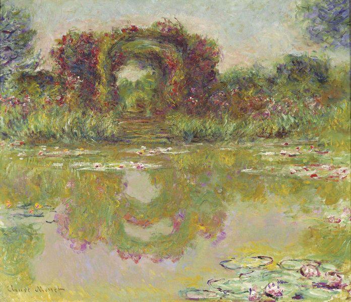 Claude Monet Les arceaux de roses