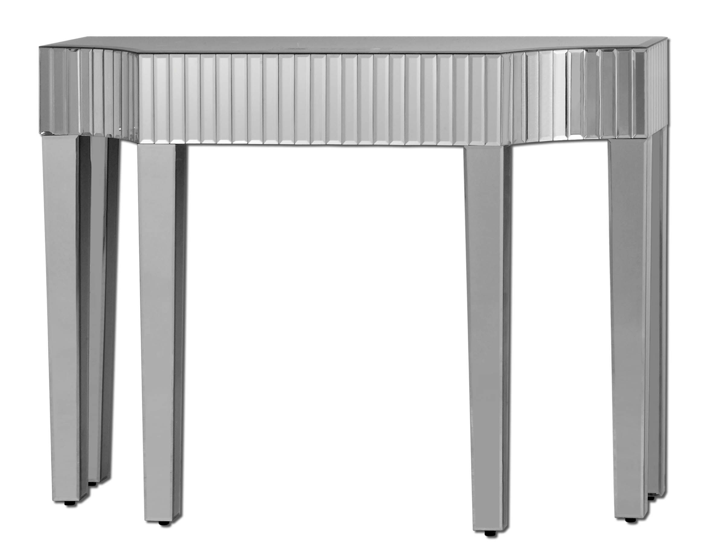 Glass console table with mirror brooklyn mirrored table  aus living room design in progress