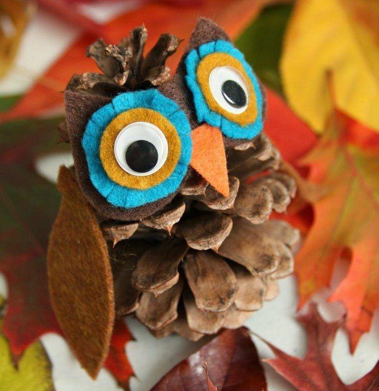 Pommes de pin 55 id es de bricolage enfants et adultes owl - Decoration avec des pommes de pin ...