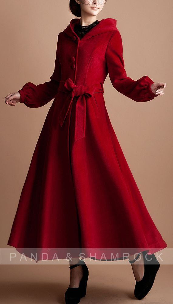 Two words: GOR-GEOUS! red riding hood/women clothing/long coat ...