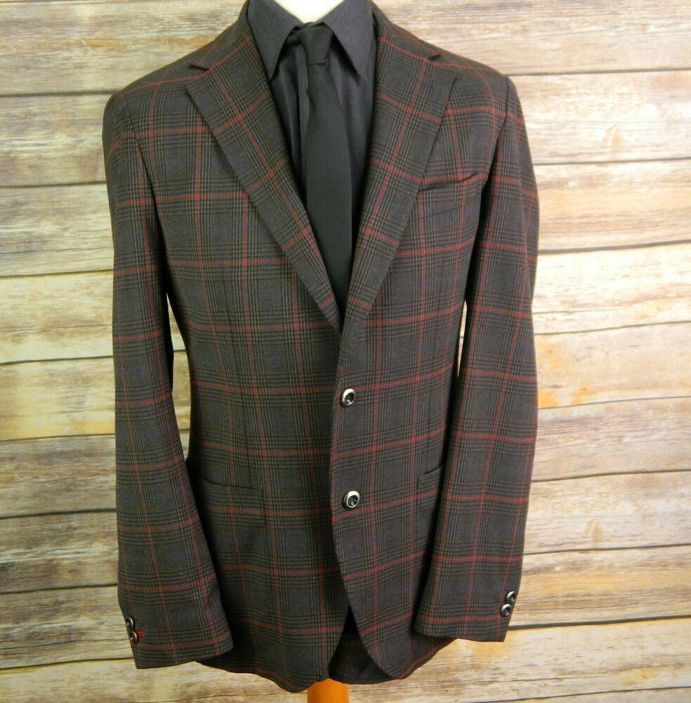 W34 L32 style Sarar EXCELLENT Mens blazer 38R tweed suit cl13FKJT