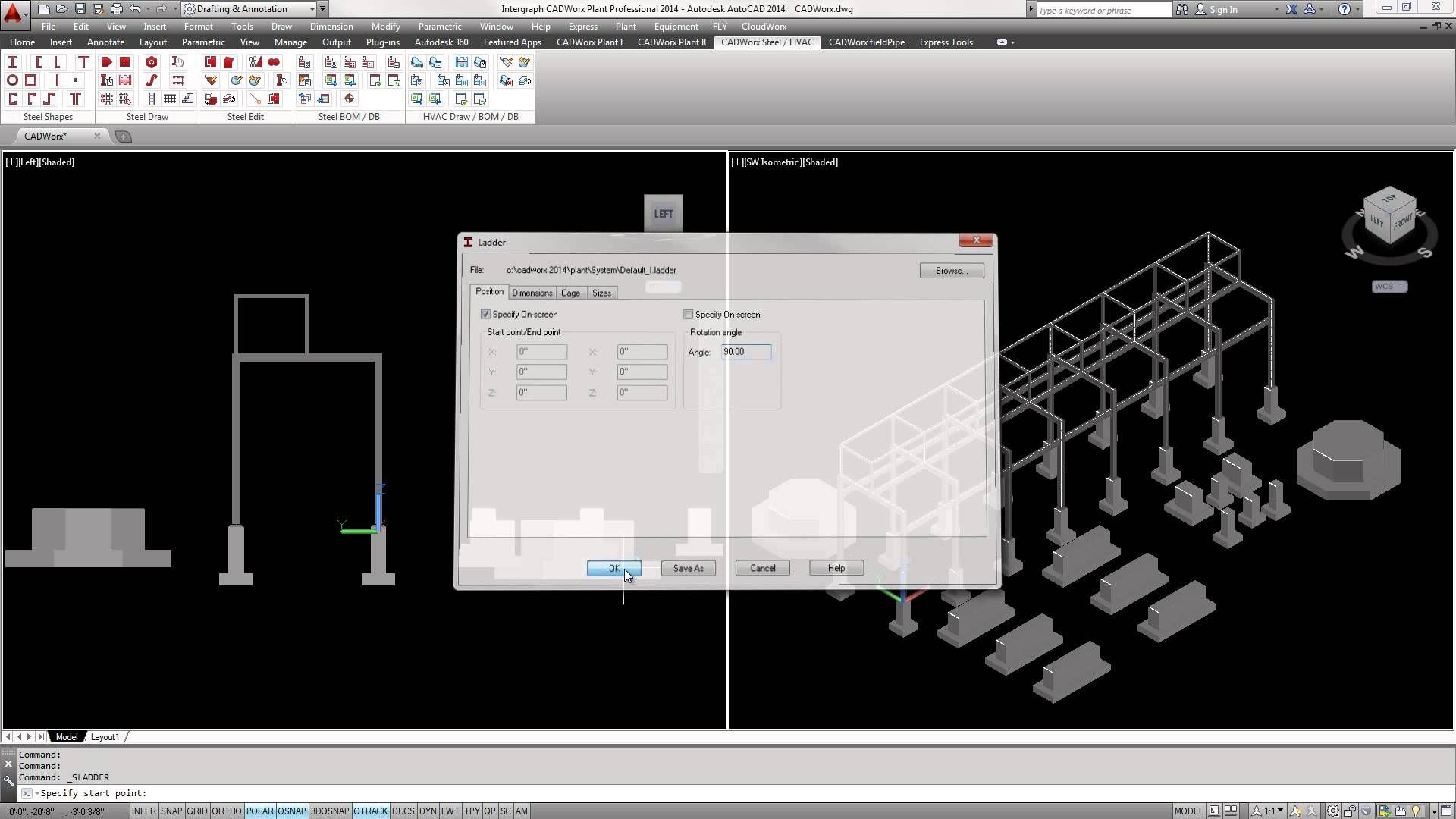 Intergraph Cadworx Plant Professional Steel Overview Hvac Drawing Dwg Structure Industrial Design Engineering Instructional
