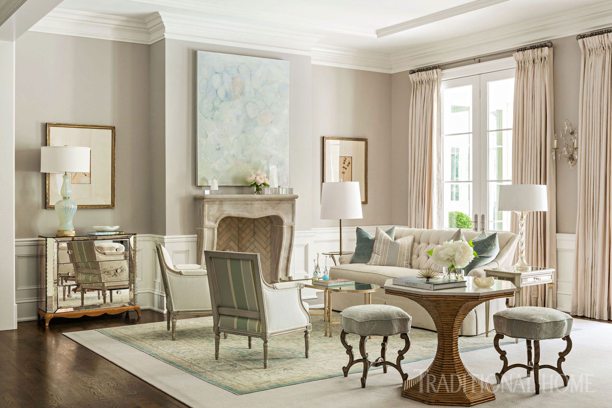 Pretty Arkansas Home with Soothing Colors | Beautiful Homes ...