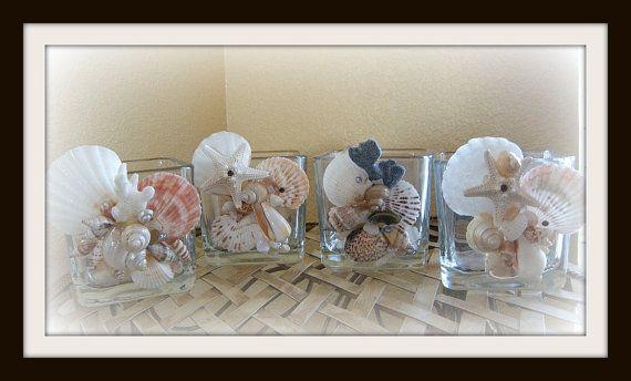 The Tides seashell vase/holder by SuziesSeashellWorld on Etsy, $22.00