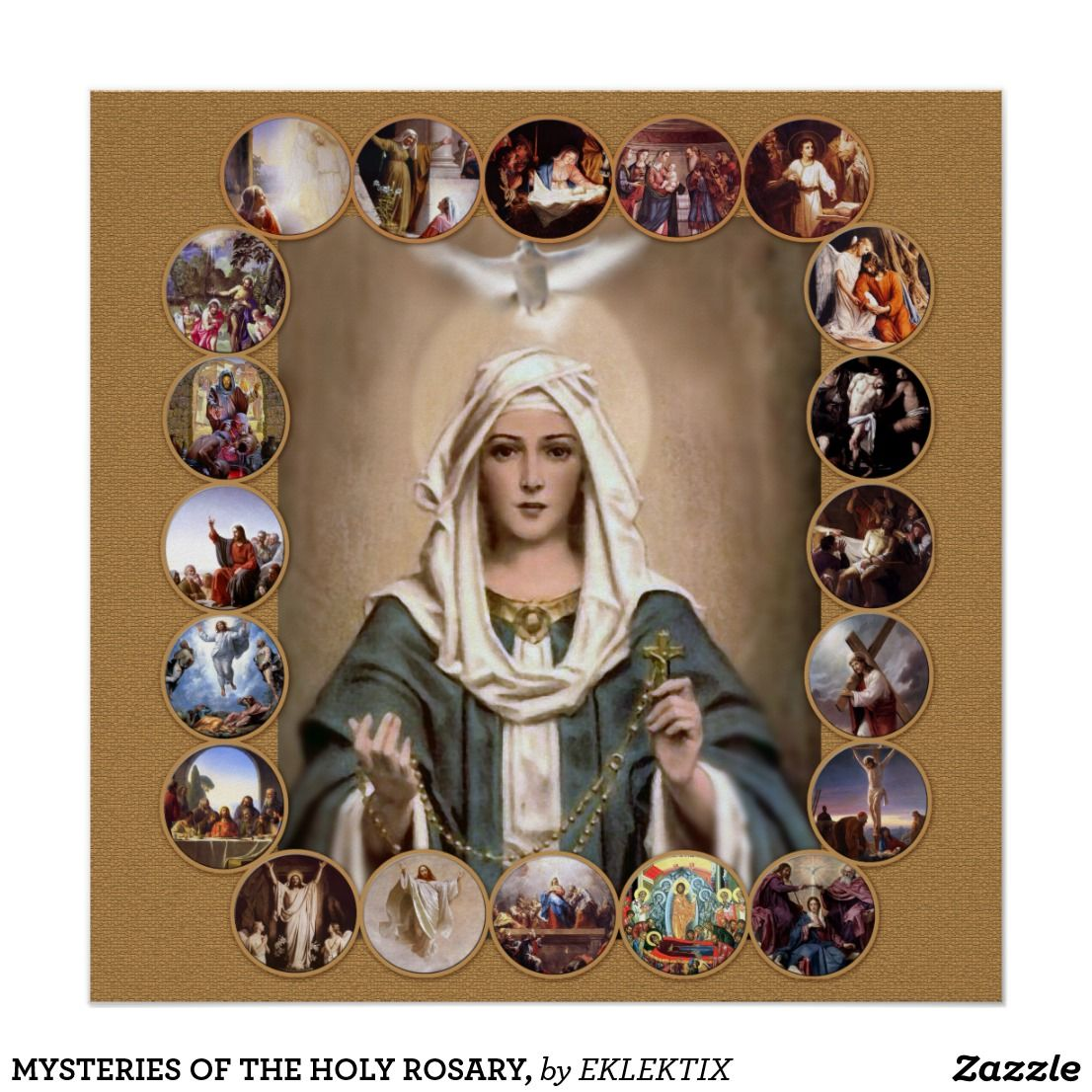 Mysteries Of The Holy Rosary Poster