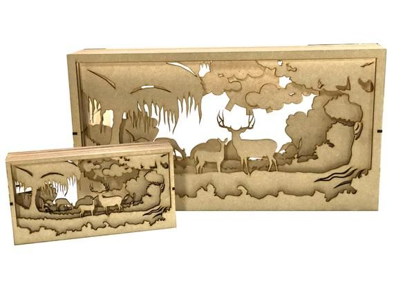 20cm Shadow boxes - Layers, can be put together in any order you would likePhoto shows 40cm and 20cm3mm thick MDF