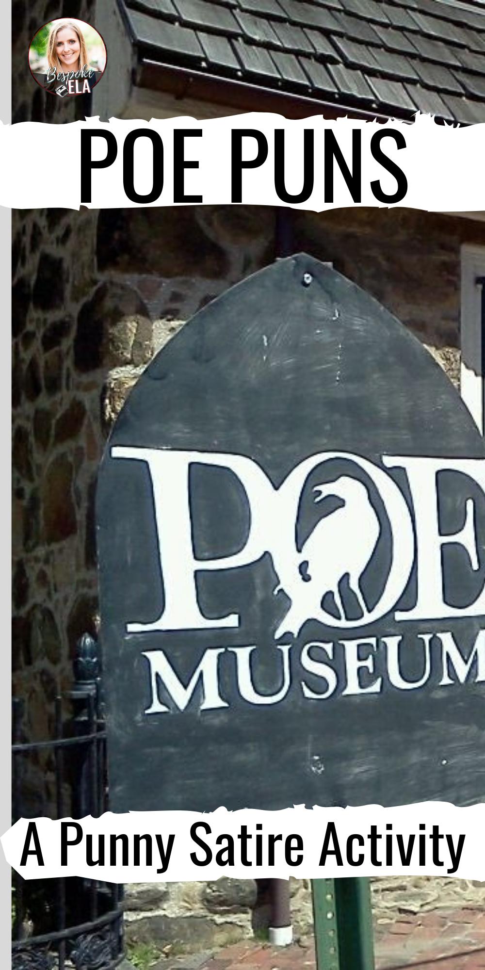 Poe Puns A Punny Satire Activity Satire, Puns, Activities