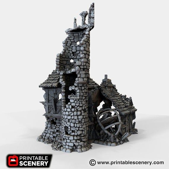 The Lost Islands - Ruined Navigator's Guild - 15mm 28mm 32mm Wargaming Terrain D&D, DnD, Pathfinder, #wargamingterrain
