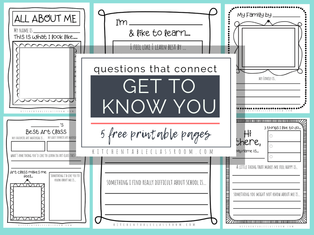 Questions That Connect 5 Free Printable Get To Know You