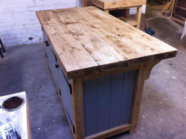 Freestanding kitchen island breakfast bar centre piece ...