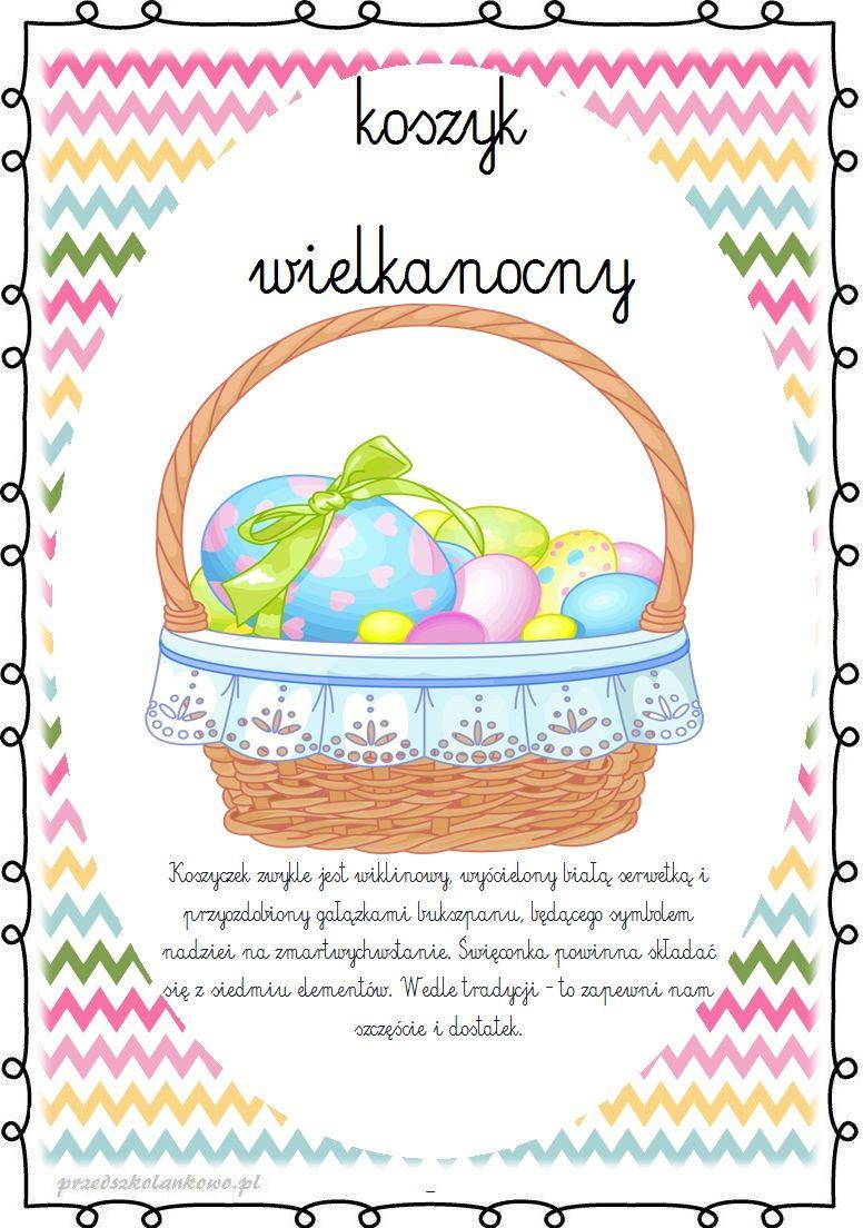 Koszyczek Wielkanocny Prezentacja Multimedialna Plansze Przedszkolankowo Cute Coloring Pages Paper Crafts Easter