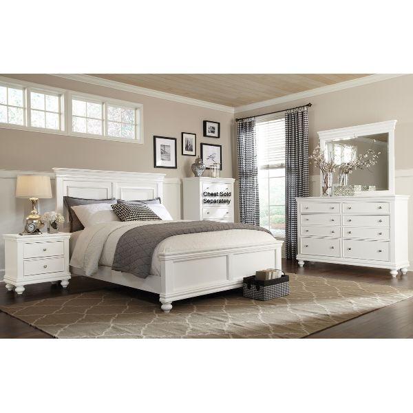 White 4 Piece Queen Bedroom Set Essex White Bedroom Set White