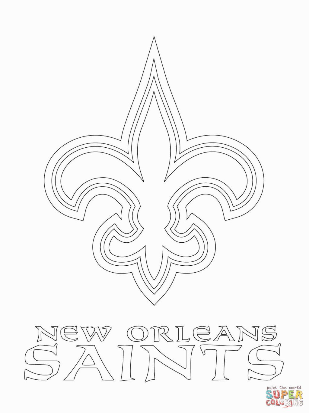 Saints Coloring Pages Football Coloring Pages New Orleans Saints
