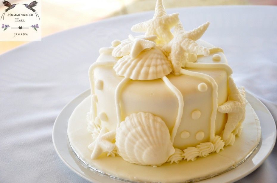 Jamaica destination wedding relaxed romantic wedding cake at ...