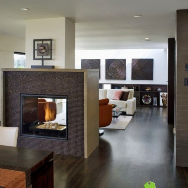 Spectacular Kitchen Family Room Renovation In Leesburg: Love The Dual Sided Fireplace!