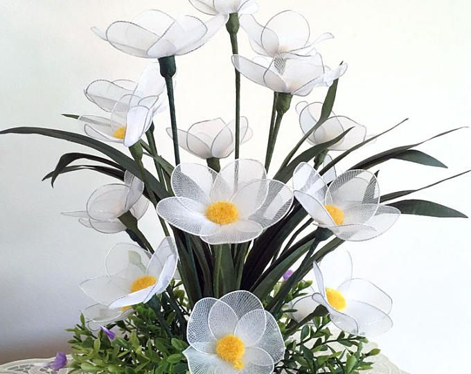 Handmade Nylon Flower Arrangement