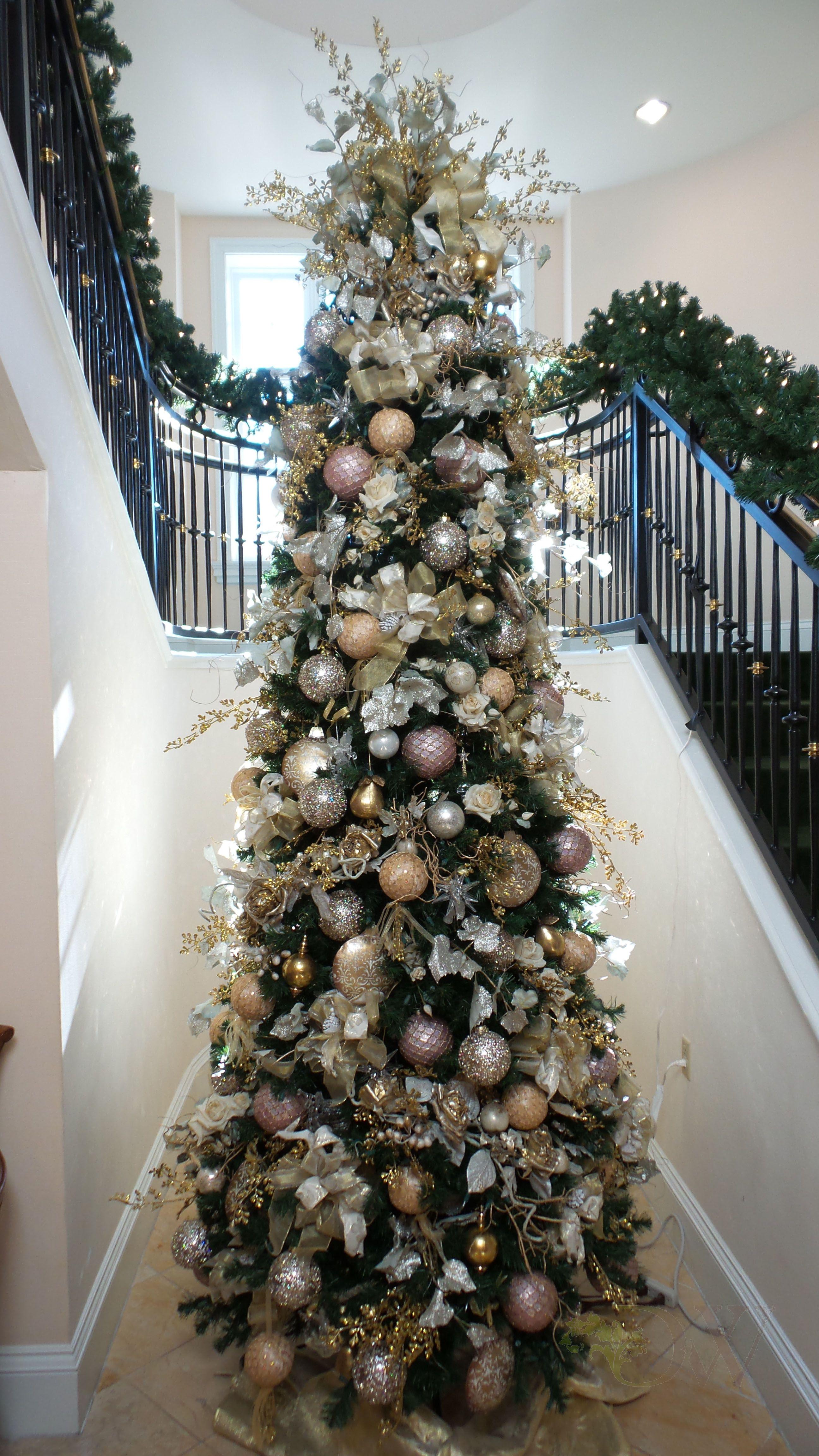 metallic christmas tree decorations