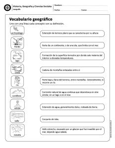 Vocabulario Geográfico Ciencias Sociales Enseñanza De La Geografía Socialismo