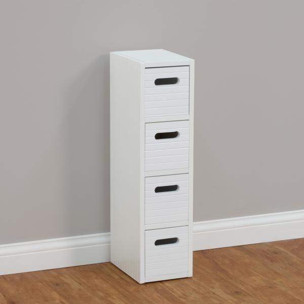 Dealsdirect Mila 4 Drawer Slim Storage Cabinet Slim Storage Cabinet Storage Storage Cabinet