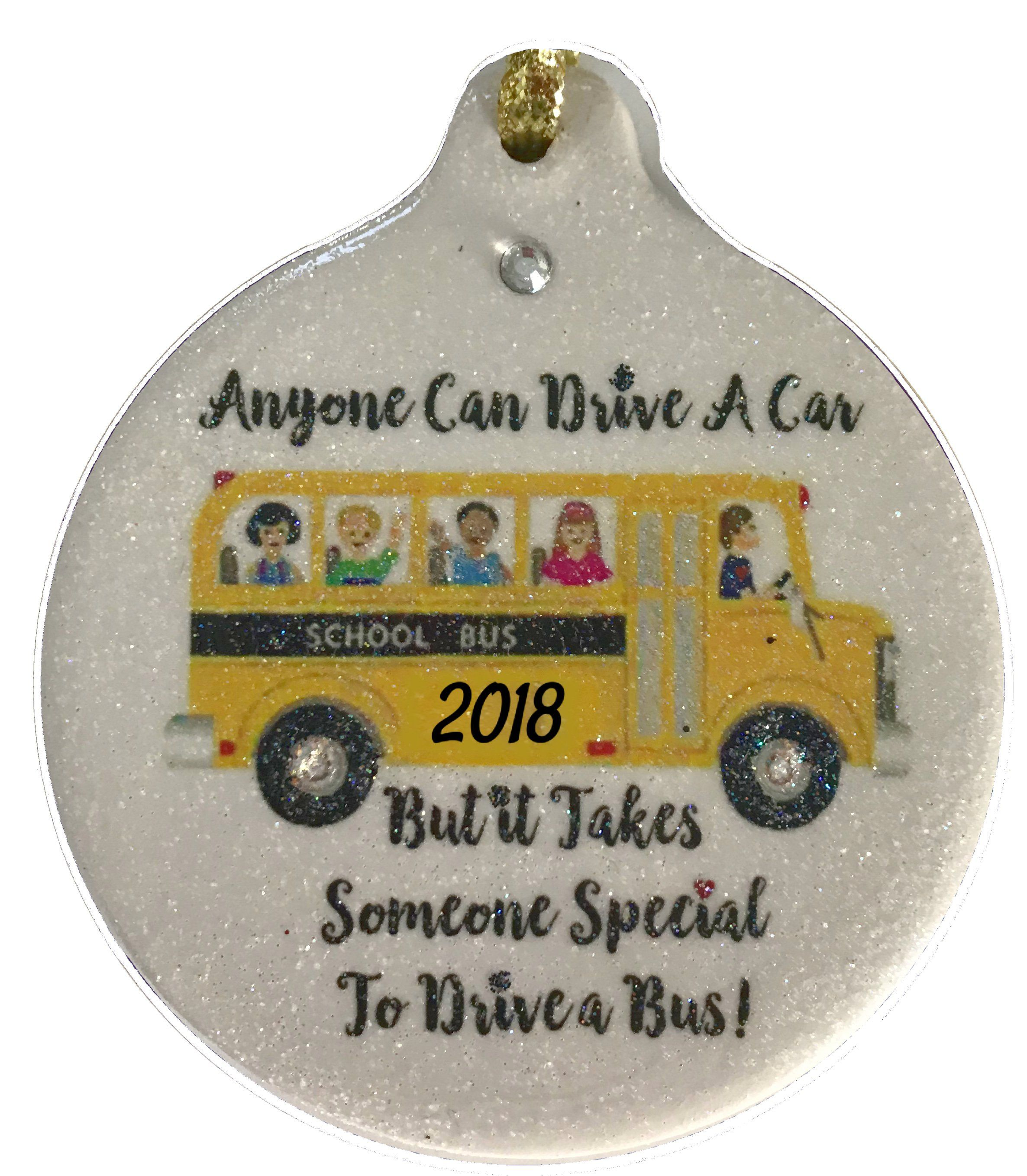 School Bus Driver Blessing Porcelain Ornament Safety Guard