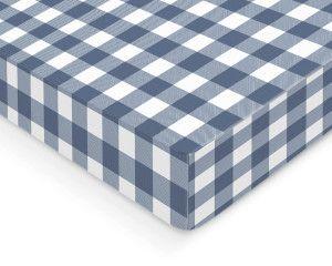 Blue Plaid Crib Sheet Western Wild West Nursery