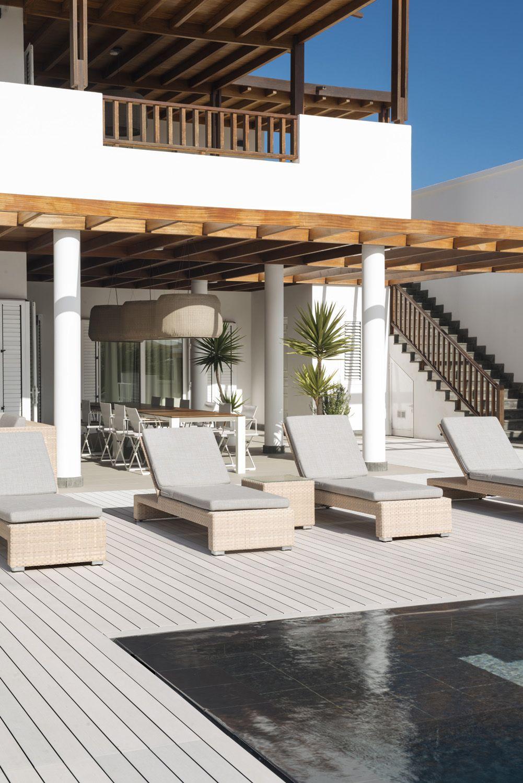 sleek esthec terrace and pool area in the canary islands lame de terrasse composite esthec