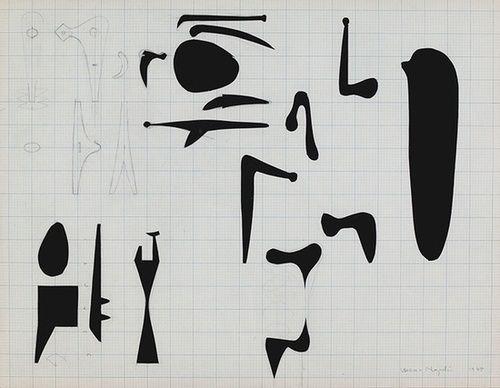 Design Voyager Isamu Noguchi Black And White Drawing B W