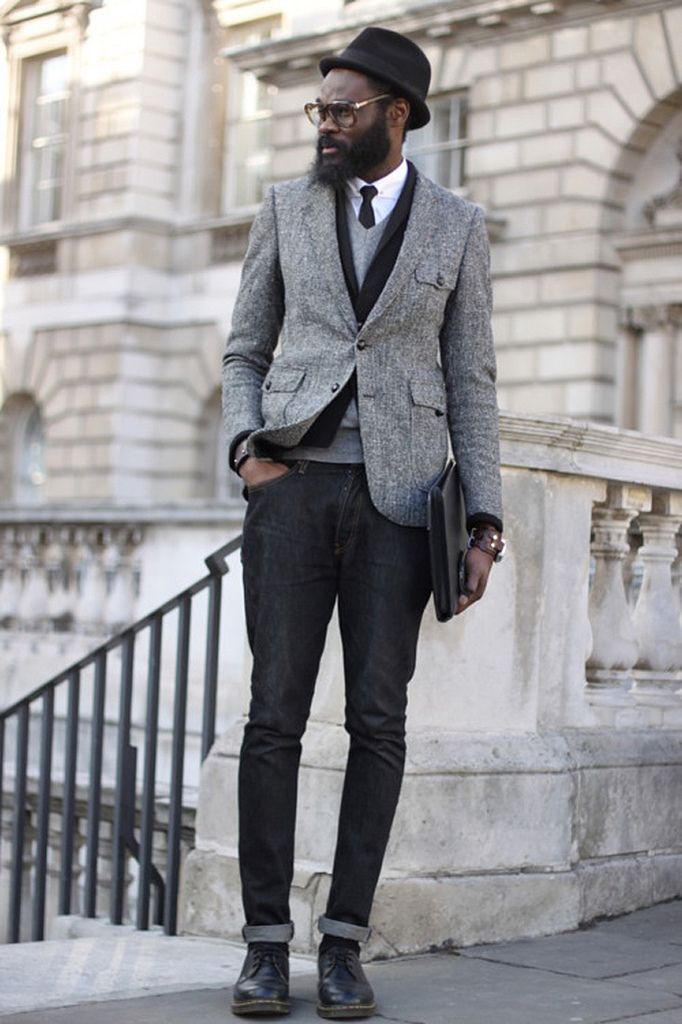 doc martens boots with suit