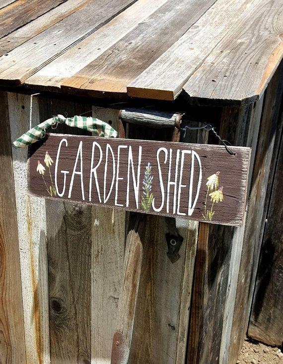 Garden Shed Sign Garden Gift Wooden Garden Sign Rustic Wood Sign Wooden Custom S Custom Garden Garden In 2020 With Images Shed Signs Garden Shed Diy Garden Signs