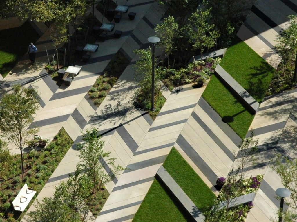 Architectures modern urban landscape architecture project for Latest garden design