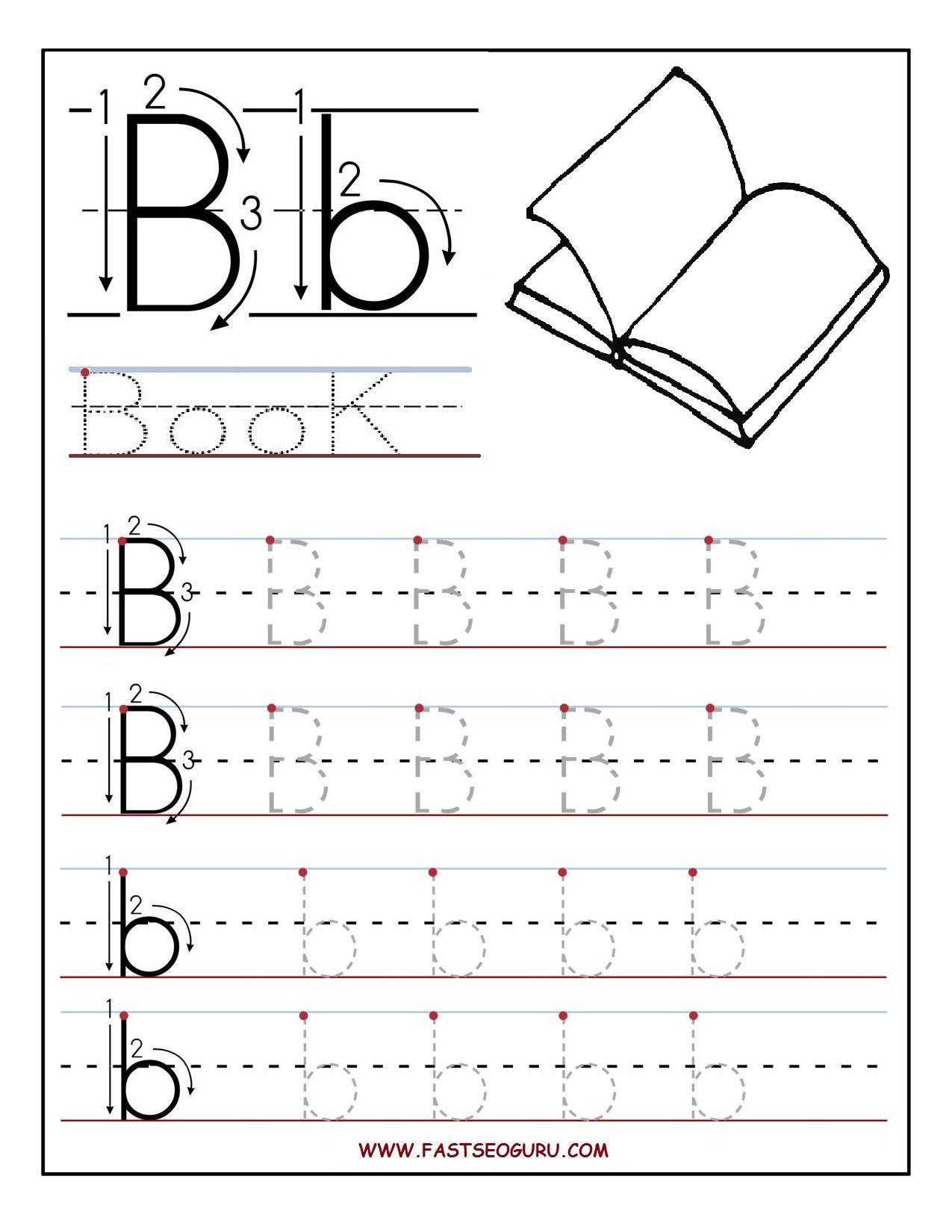 Letter B Worksheets For Preschoolers Printable Letter B Letter