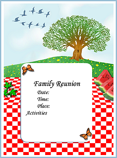 Superb Printable Family Reunion Booklet Flyers Invitations Banners Iron On  Templates Ideas Free Printable Family Reunion Templates