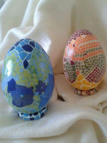 OUS Huevos decorados con la técnica decoupage Huevos decorados - huevos decorados