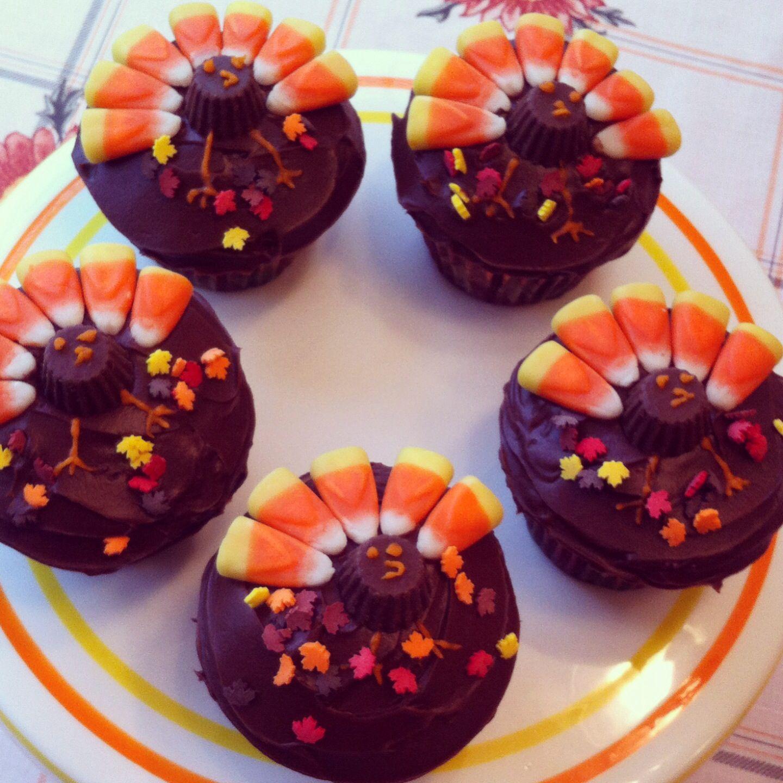 Thanksgiving turkey cupcakes Alyssa s Desserts
