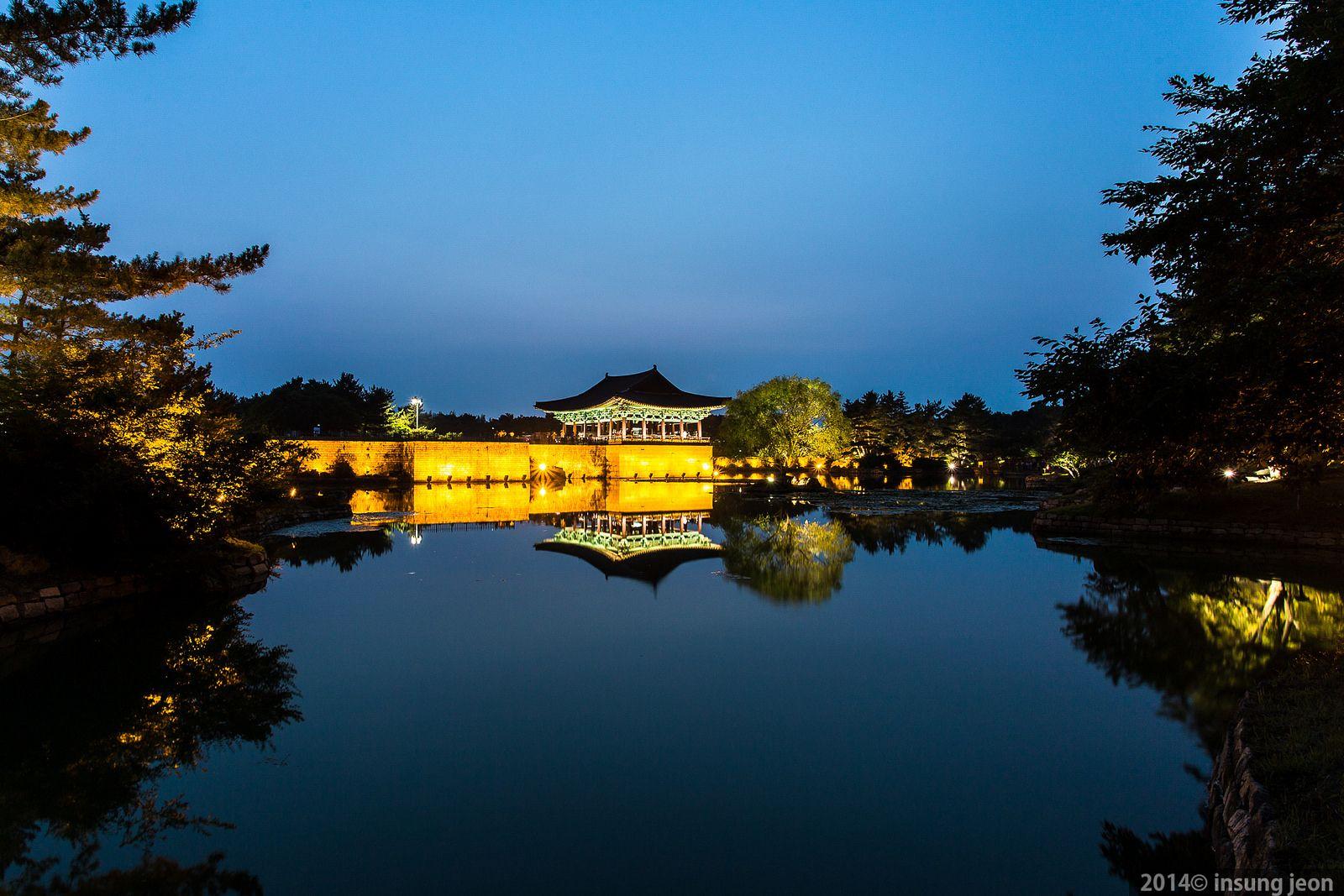 Anapji Pond (안압지) at night