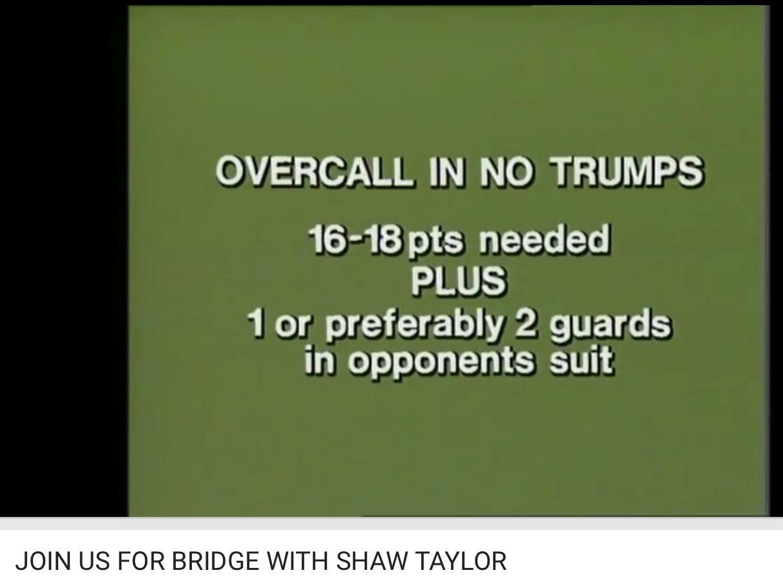 Bidding Overcall In No Trumps Youtube Bridge Card Game Bridge Card Card Games