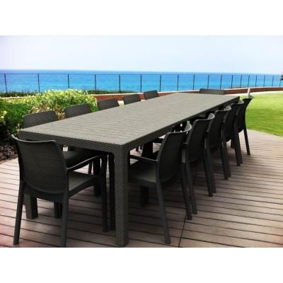 Symphony Extendable Patio Dining Table - 214724 at The Home Depot - Symphony Extendable Patio Dining Table - 214724 At The Home Depot