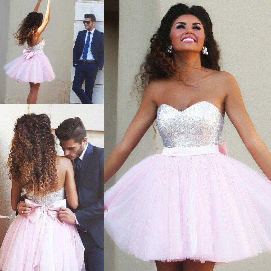 New arrival light pink shortmini homecoming dresses shortmini