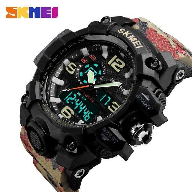 d58de516671 SKMEI New S Shock Men Sports Watches Big Dial Quartz Digital Watch For Men  Luxury Brand LED Military Waterproof Men Wristwatches